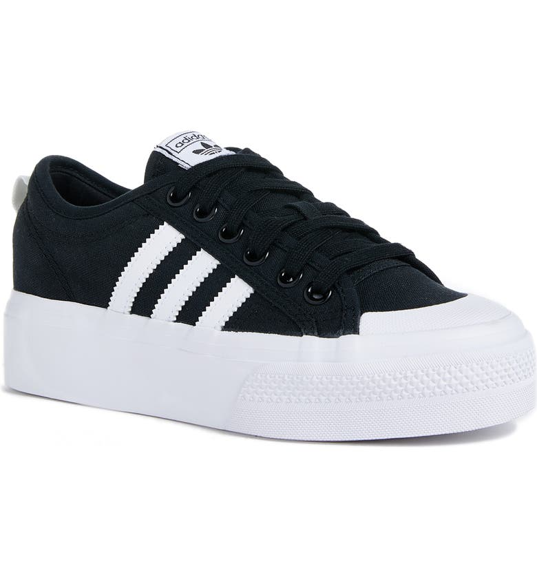 ADIDAS Nizza Platform Sneaker, Main, color, BLACK/ WHITE/ WHITE