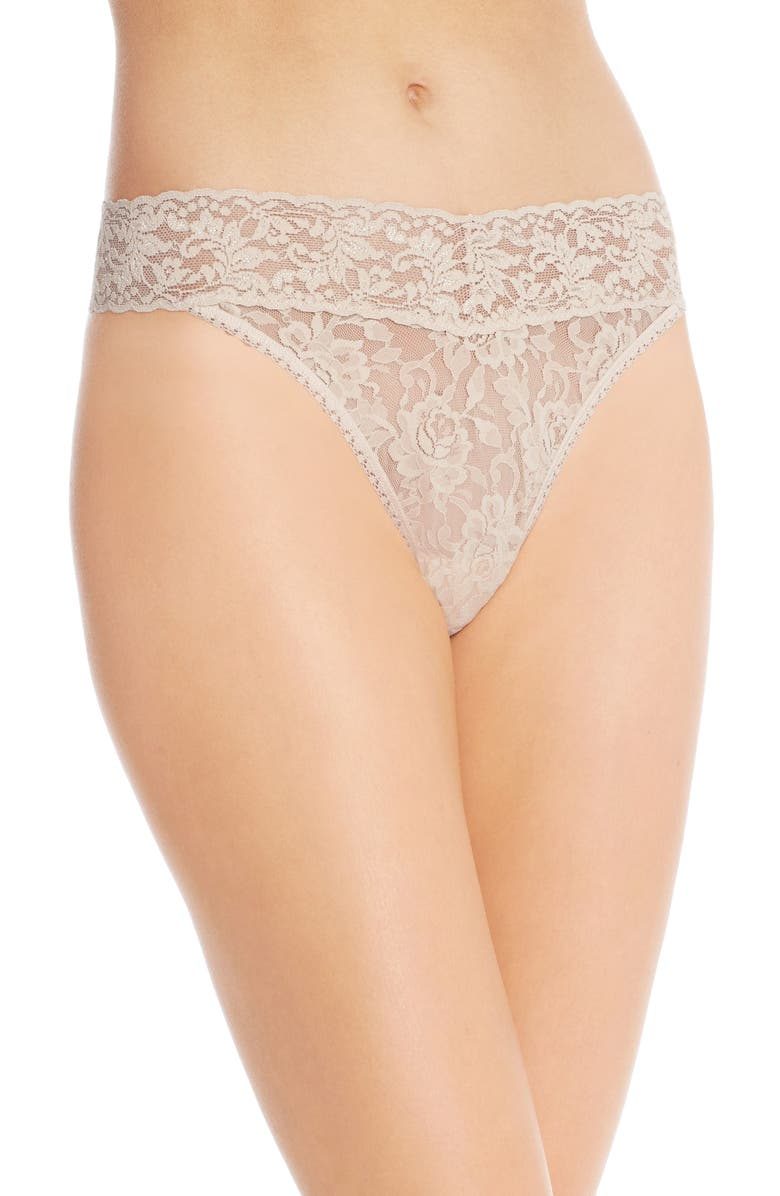 HANKY PANKY Original Rise Thong, Main, color, CHAI