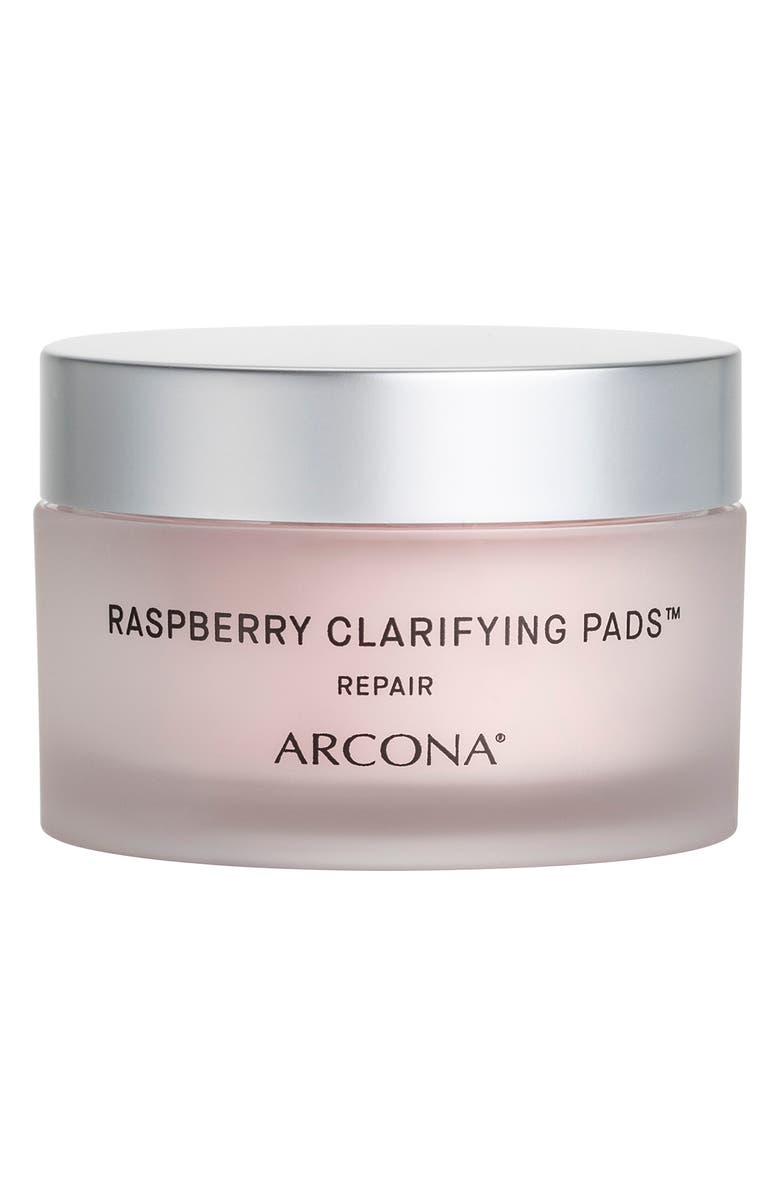 ARCONA Raspberry Clarifying Pads Blemish Reducing Toner, Main, color, No Color