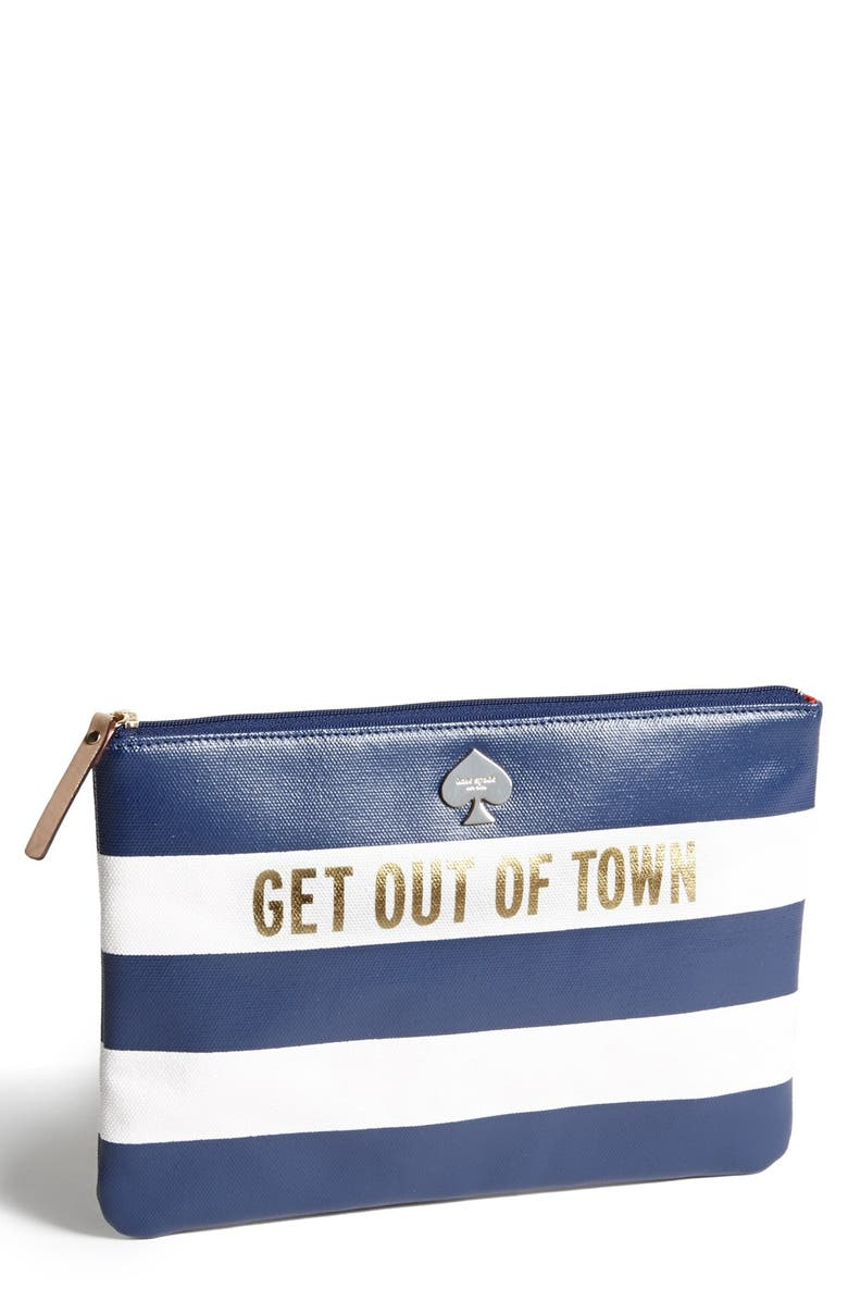 KATE SPADE NEW YORK 'get out of town' zip top pouch, Main, color, 655
