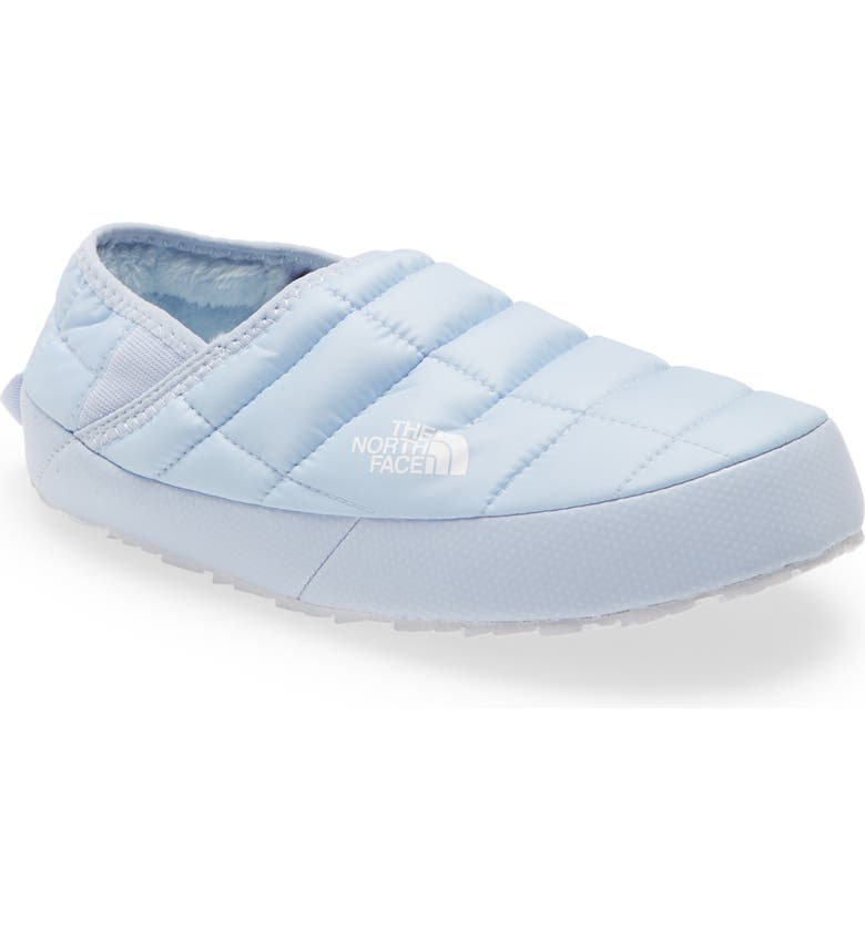 THE NORTH FACE ThermoBall<sup>™</sup> Traction Water Resistant Slipper, Main, color, MIST BLUE/ TNF WHITE