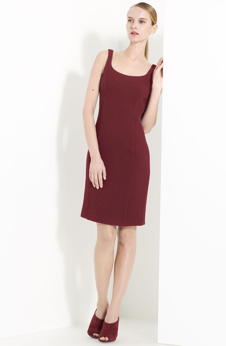 ARMANI COLLEZIONI Wool Crepe Sheath Dress, Main, color, 930