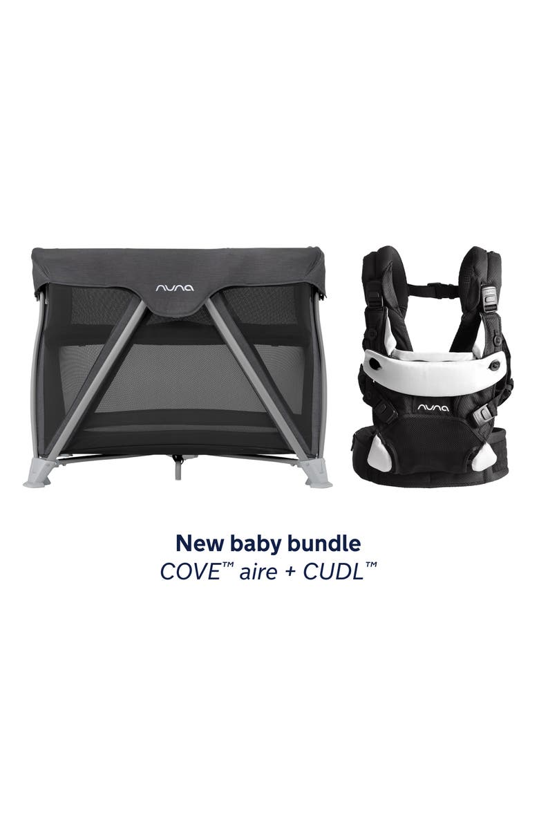 NUNA COVE Aire Travel Crib & CUDL Baby Carrier Set, Main, color, 001