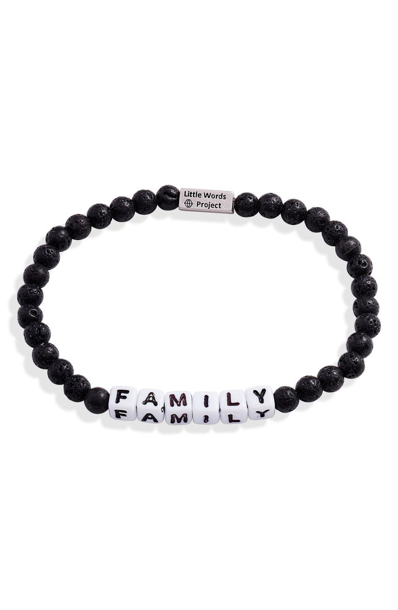 LITTLE WORDS PROJECT Family Beaded Stretch Bracelet, Main, color, LAVA