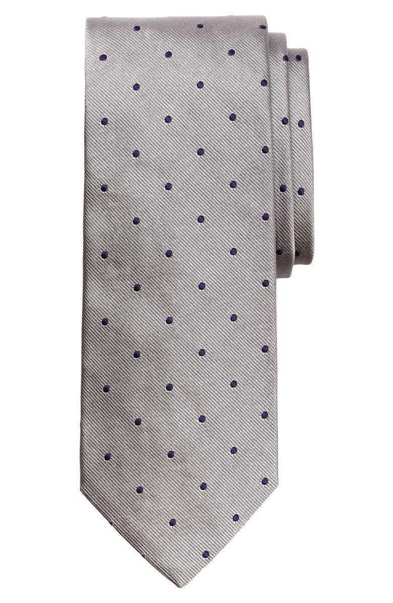 BROOKS BROTHERS Small Dot Silk Tie, Main, color, 045