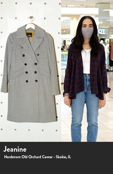 Double Breasted Wool Blend Coat, sales video thumbnail