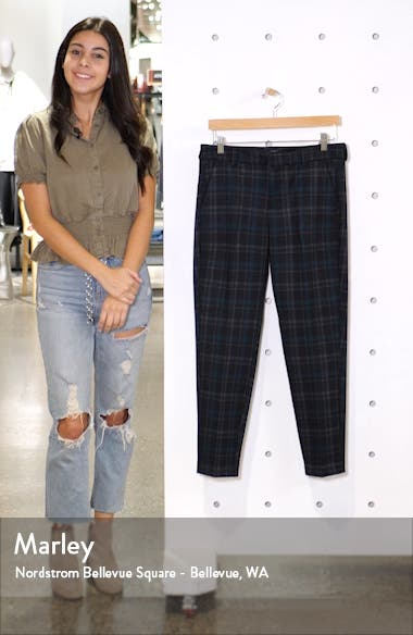 Kelsey Plaid Knit Trousers, sales video thumbnail
