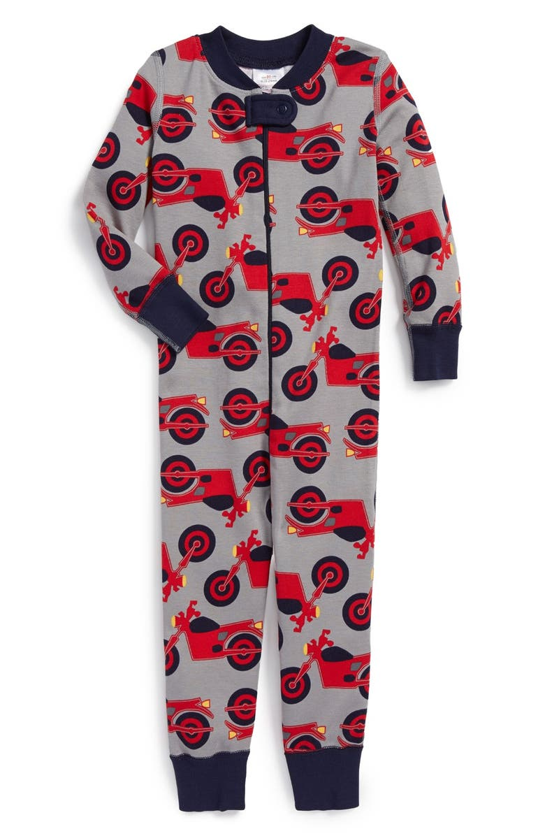 HANNA ANDERSSON Organic Cotton Fitted One-Piece Pajamas, Main, color, 071