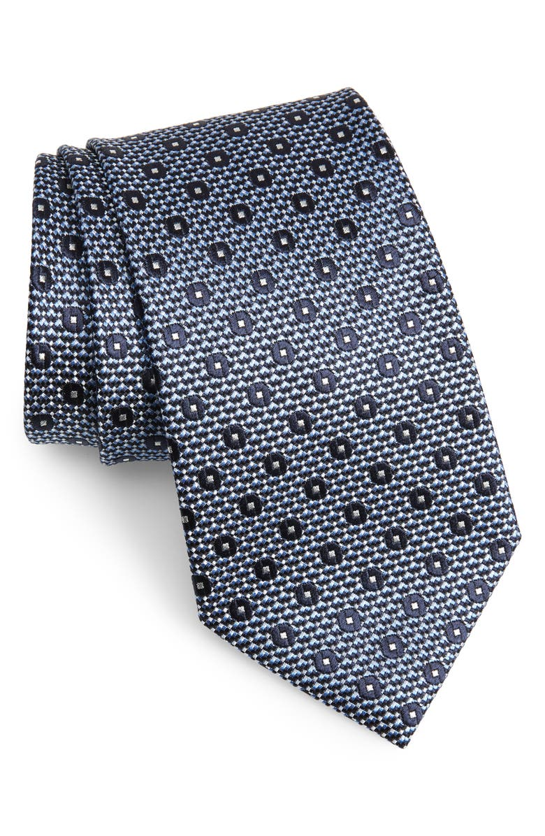 ERMENEGILDO ZEGNA Medallion Silk Tie, Main, color, 438