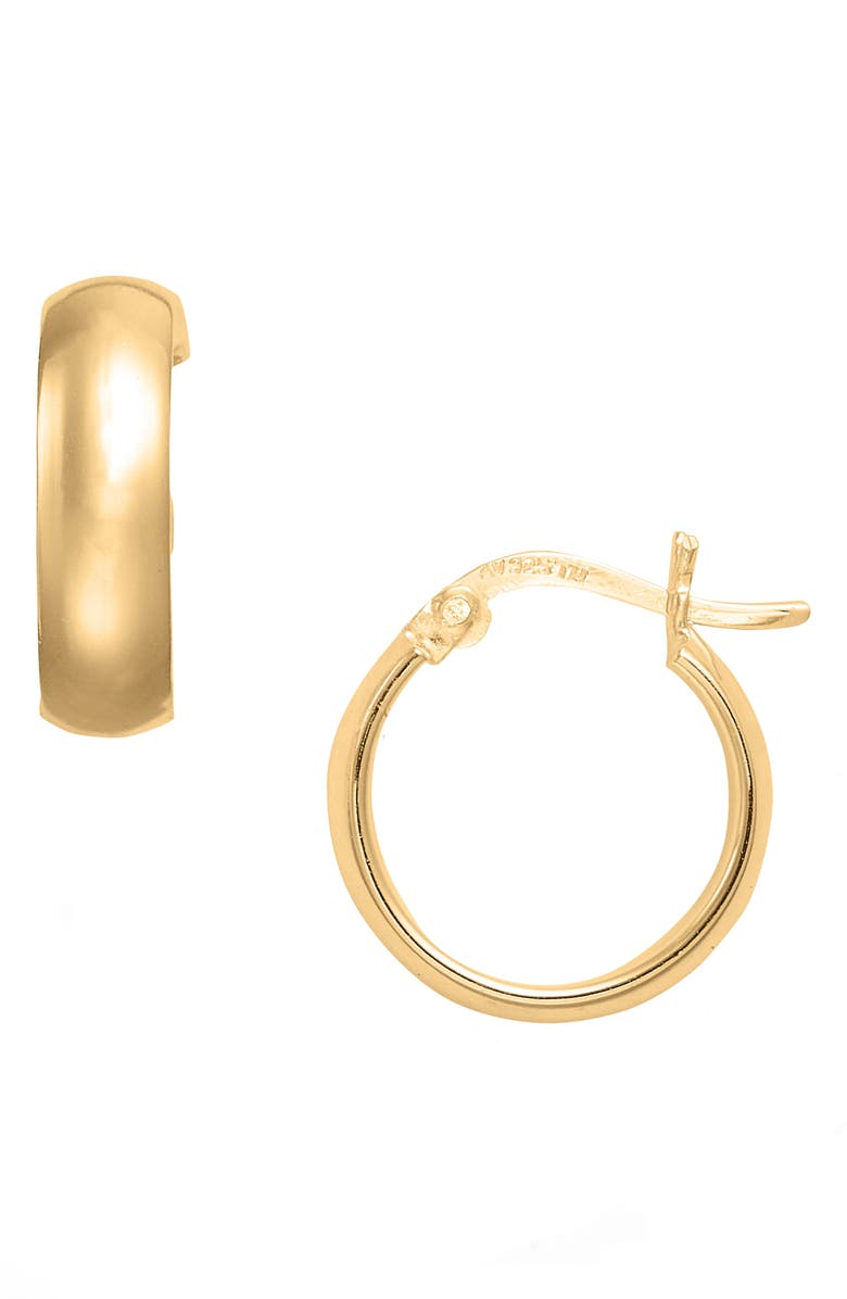 ARGENTO VIVO STERLING SILVER Argento Vivo Small Curved Hoop Earrings, Main, color, 710