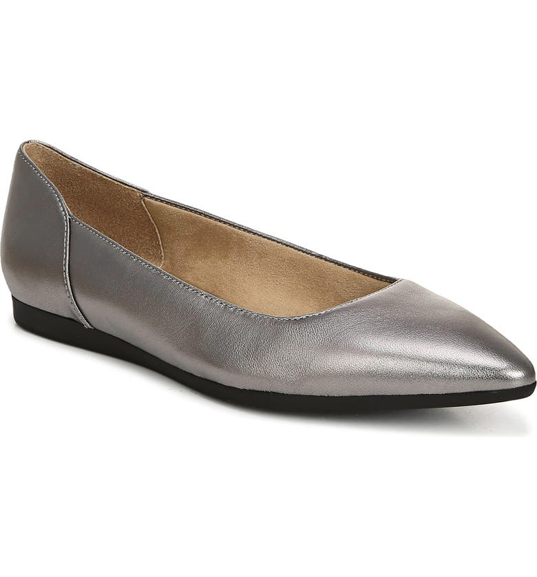NATURALIZER Rayna Flat, Main, color, PEWTER METALLIC LEATHER