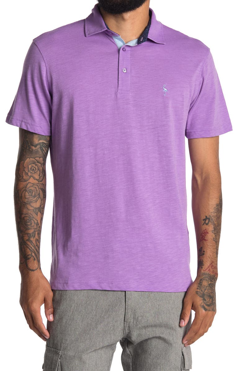 TAILORBYRD Jersey Solid Polo, Main, color, LAVENDER