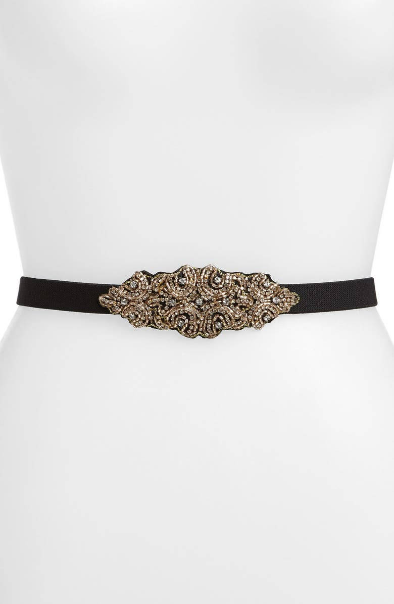 HINGE <sup>®</sup> Embroidered & Beaded Belt, Main, color, 001