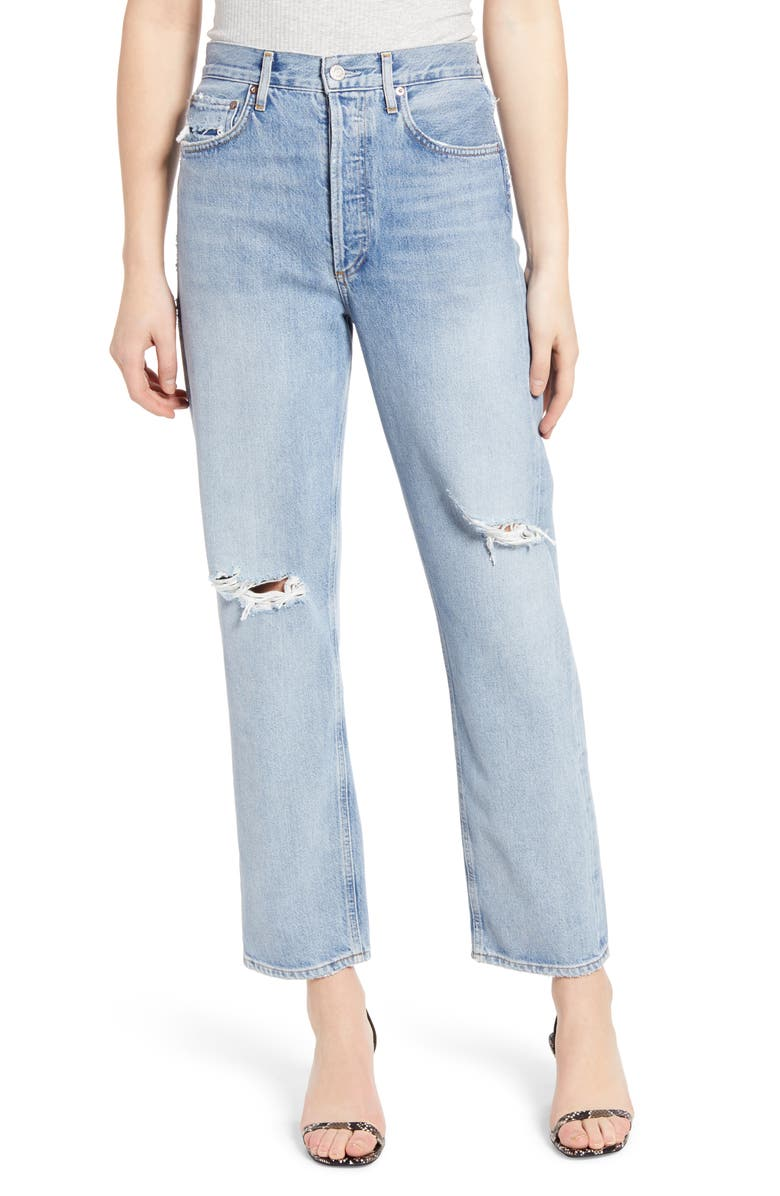 AGOLDE '90s High Waist Loose Fit Jeans, Main, color, CAPTURED