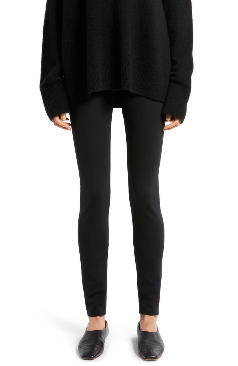 THE ROW Woolworth Stretch Scuba Pants, Main, color, BLACK