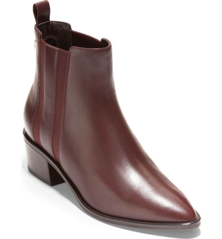 COLE HAAN Valorie Bootie, Main, color, MAHOGANY LEATHER