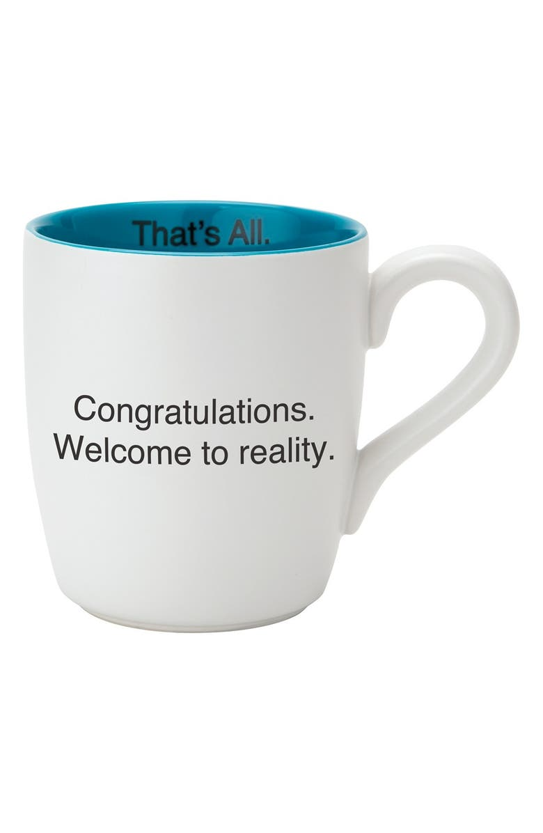 CB GIFT 'Welcome To Reality - That's All' Mug, Main, color, 100
