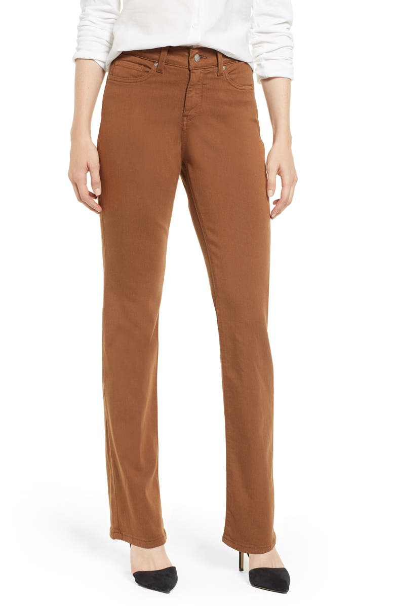 NYDJ Marilyn Stretch Twill Straight Leg Pants, Main, color, 209