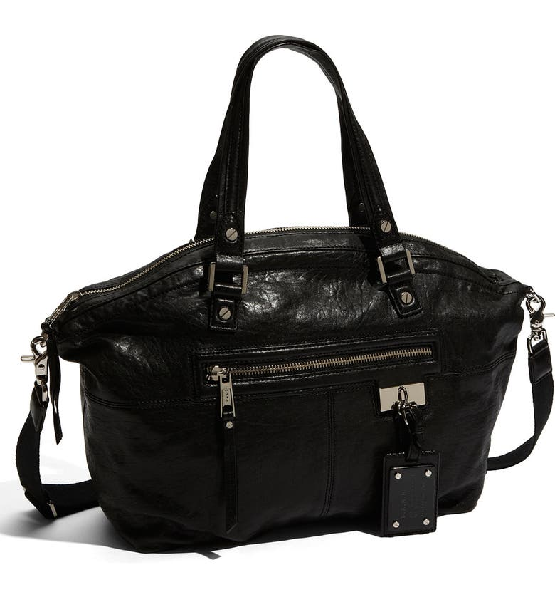 L.A.M.B. 'Trademark Audrey' Leather Tote, Main, color, 001