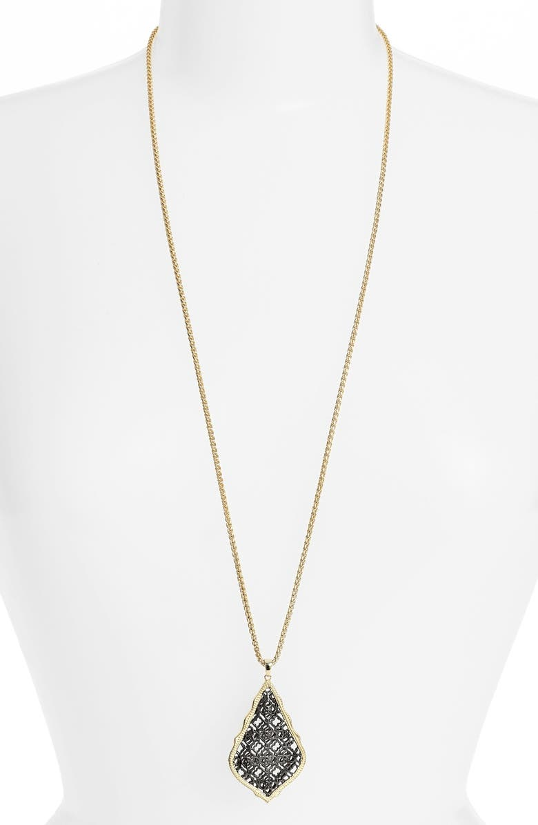 KENDRA SCOTT 'Aiden' Pendant Necklace, Main, color, 020