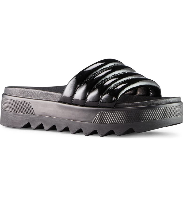 COUGAR Prato Slide Sandal, Main, color, BLACK PATENT LEATHER