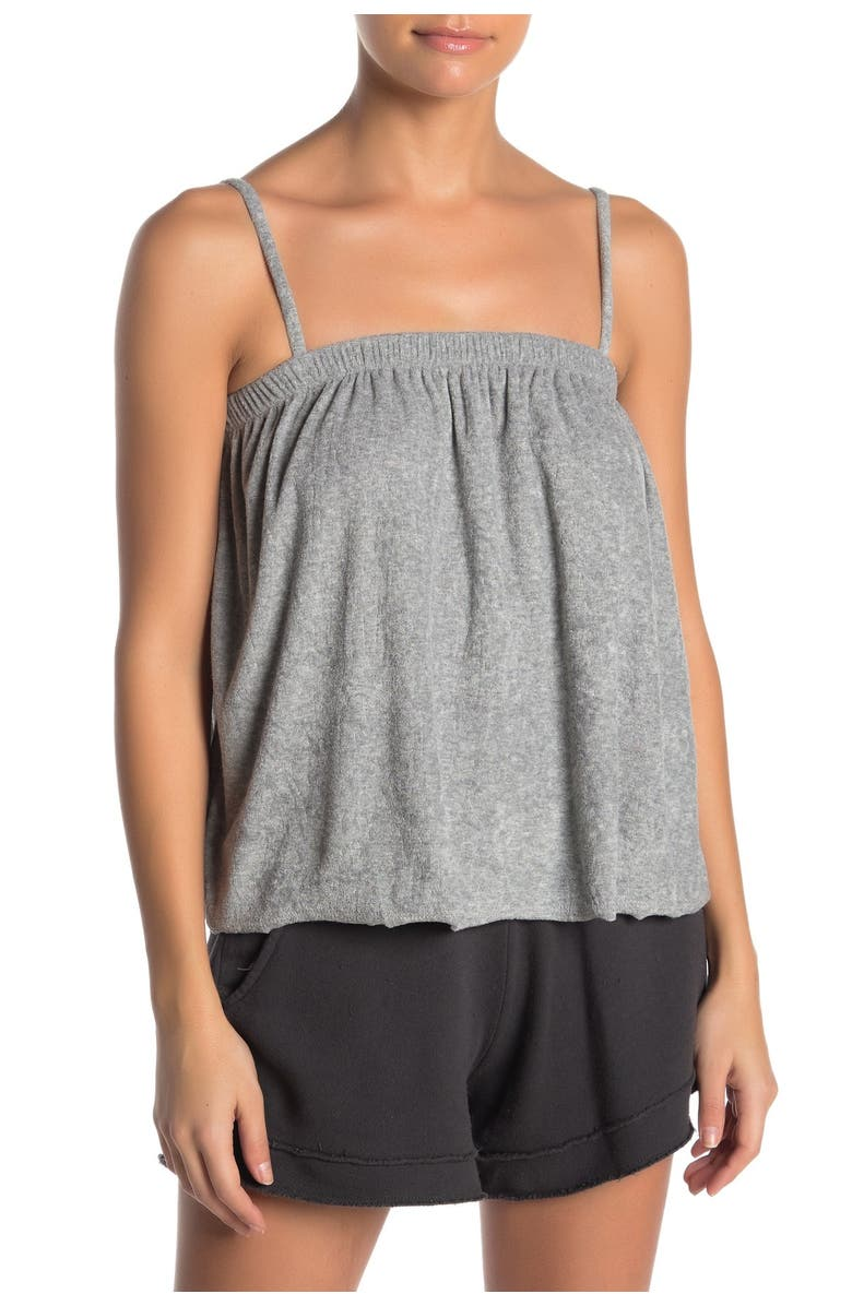 PROJECT SOCIAL T Lillia French Terry Swing Tank Top, Main, color, HTR GRAY
