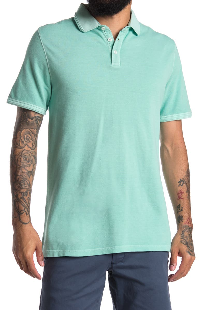 THREAD AND CLOTH Pigment Dyed Pique Solid Polo, Main, color, NEW MINT