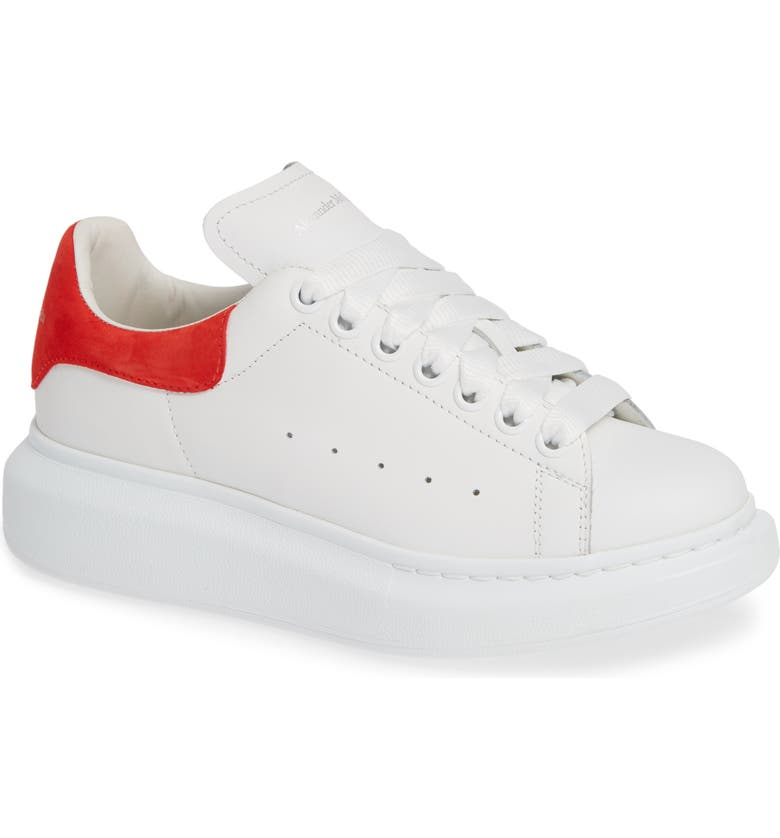ALEXANDER MCQUEEN Sneaker, Main, color, WHITE/ LUST RED