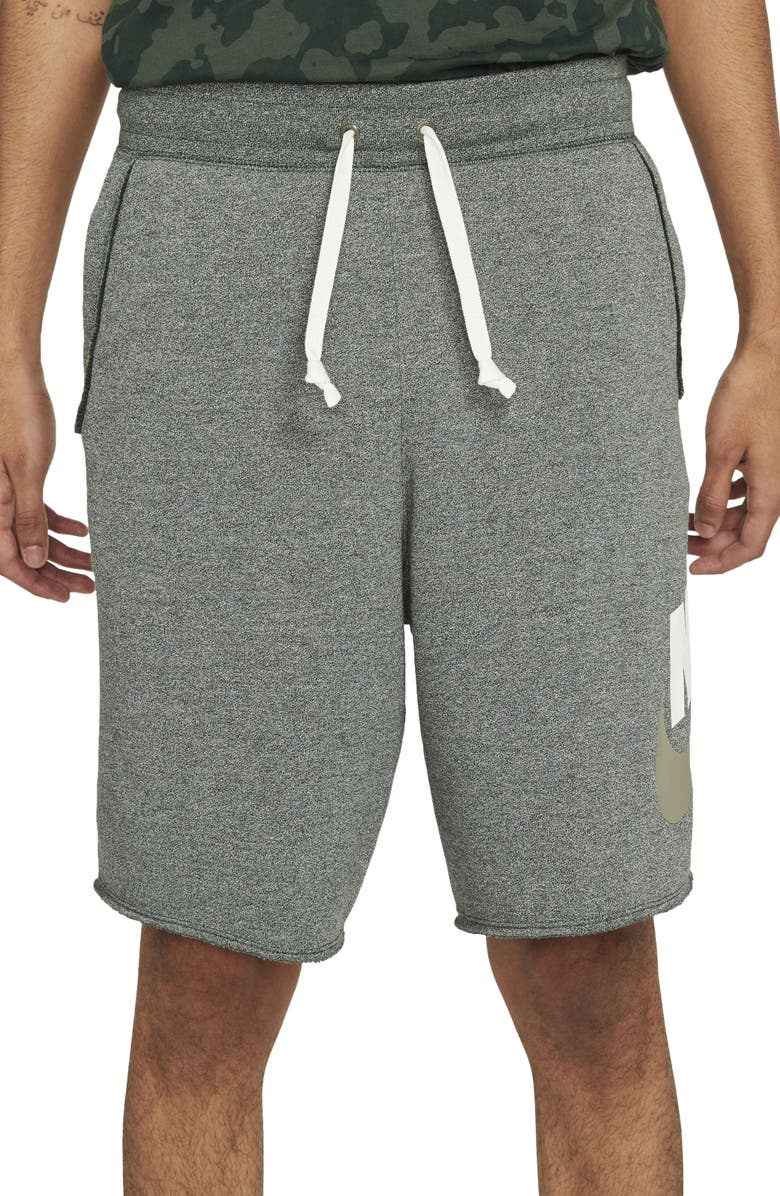 NIKE Sportswear Alumni Shorts, Main, color, GALACTIC JADE/ HEATHER/ SAIL
