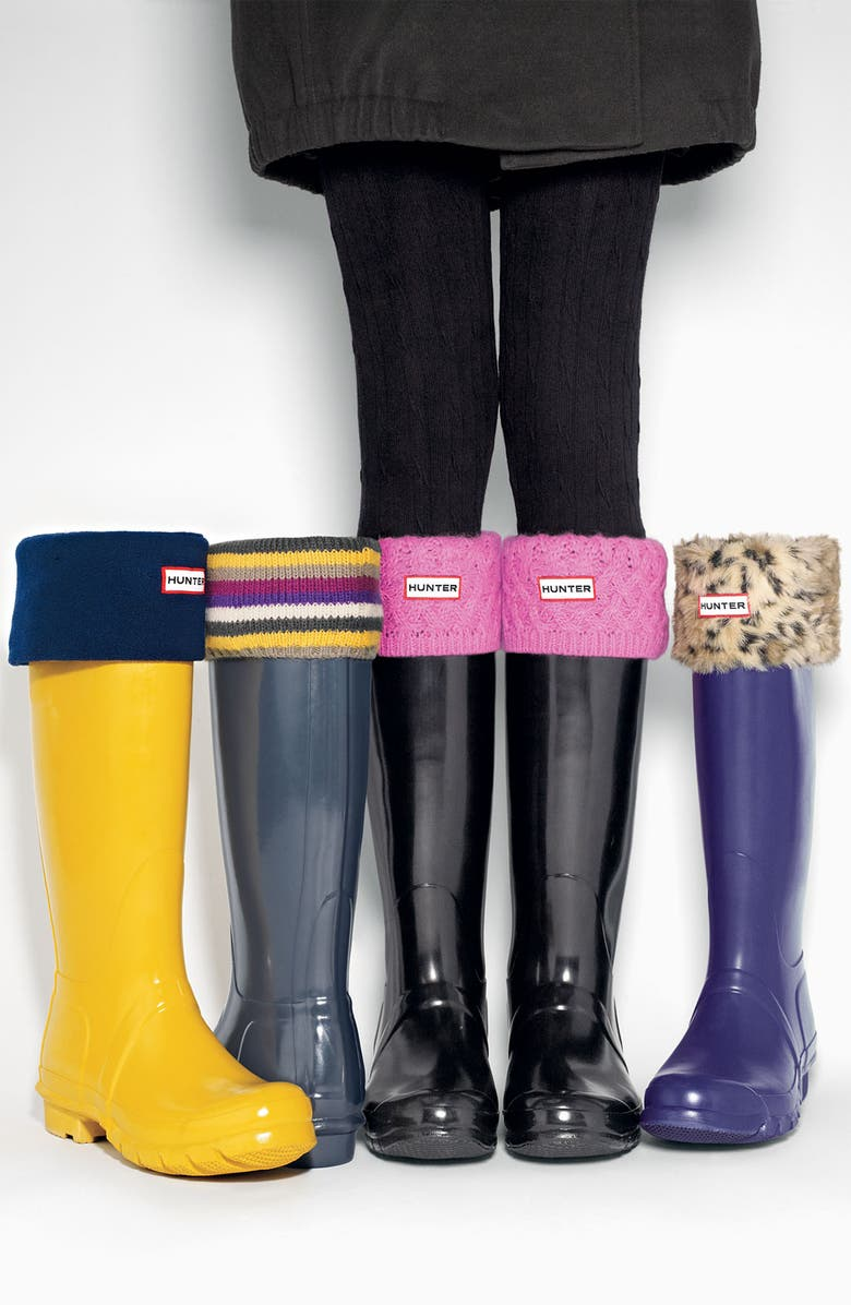 HUNTER Tall Basket Weave Knit Welly Socks, Main, color, 367