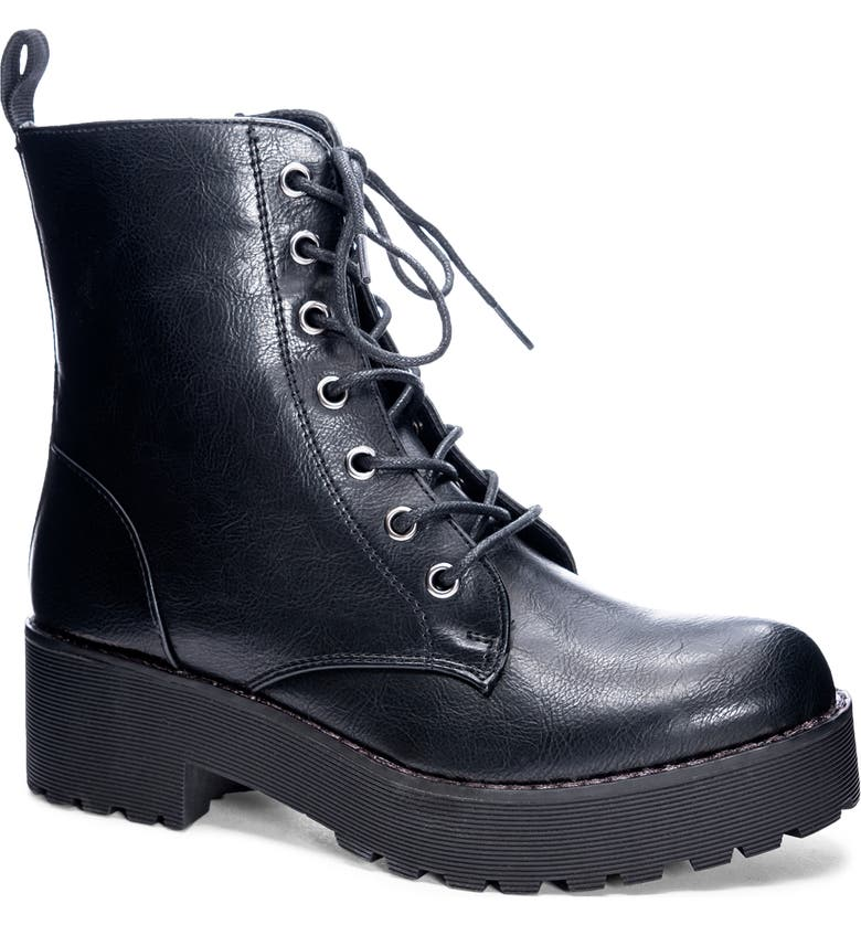 DIRTY LAUNDRY Mazzy Lace-Up Boot, Main, color, BLACK