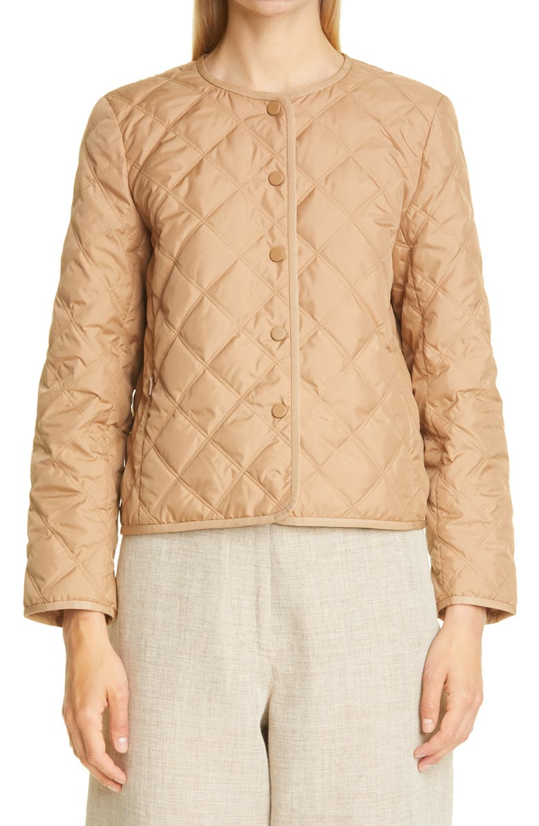 LAFAYETTE 148 NEW YORK Kade Alpine Quilted Down Jacket, Main, color, CAMEL