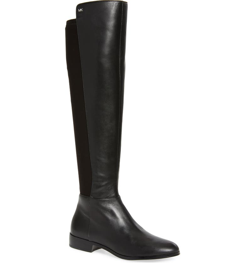 MICHAEL MICHAEL KORS Bromley Stretch Back Riding Boot, Main, color, BLACK