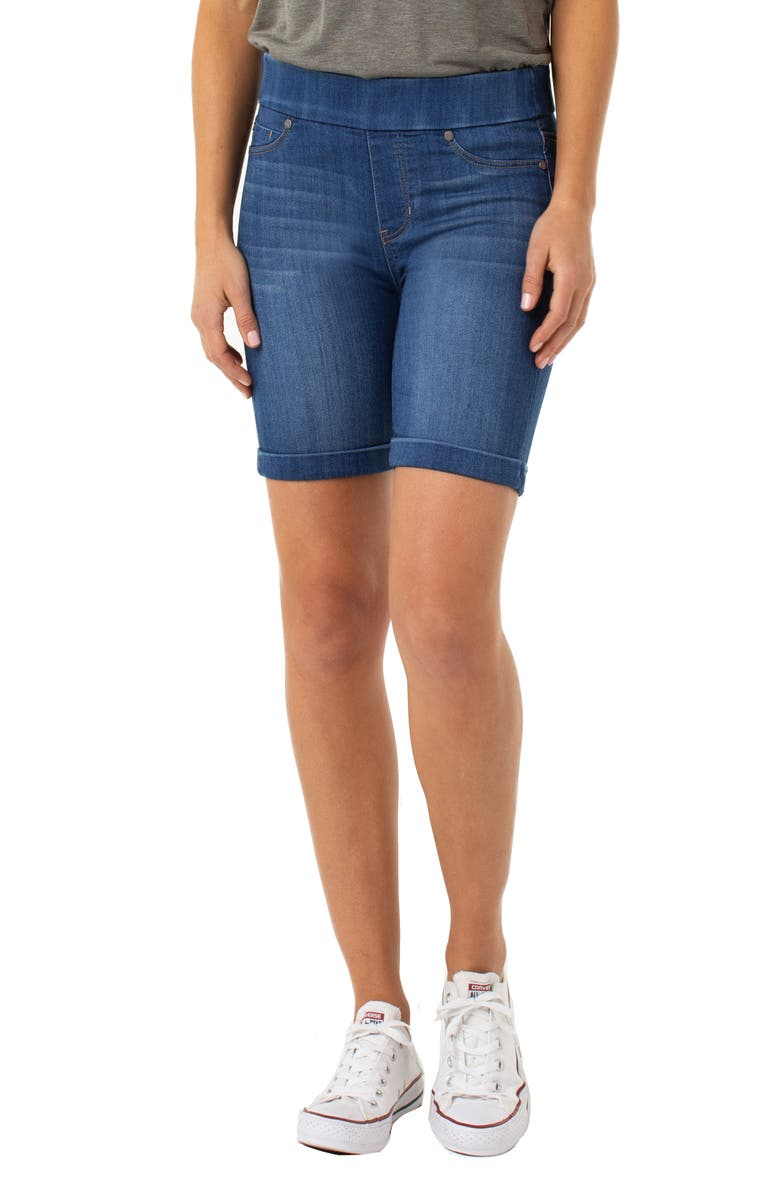 LIVERPOOL Roxie Pull-On Shorts, Main, color, LANIER MID