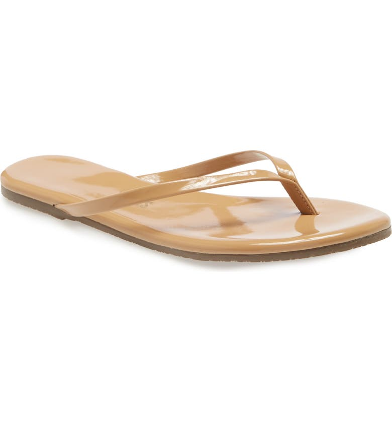 TKEES Foundations Gloss Flip Flop, Main, color, COCOBUTTER