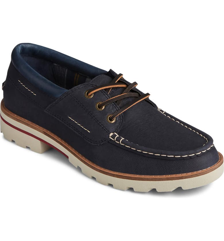 SPERRY Authentic Original Boat Shoe, Main, color, DRESS BLUE GALWAY LEATHER