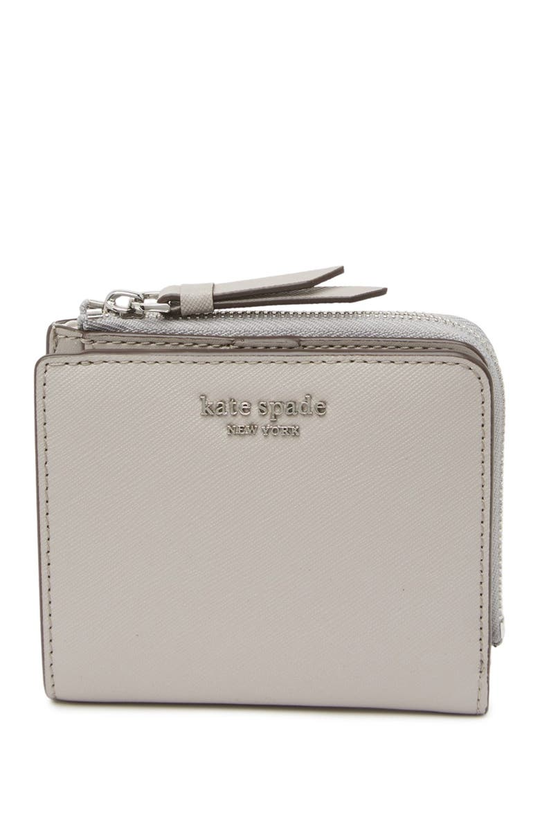 KATE SPADE NEW YORK cameron leather bifold wallet, Main, color, SOFTTAUPE