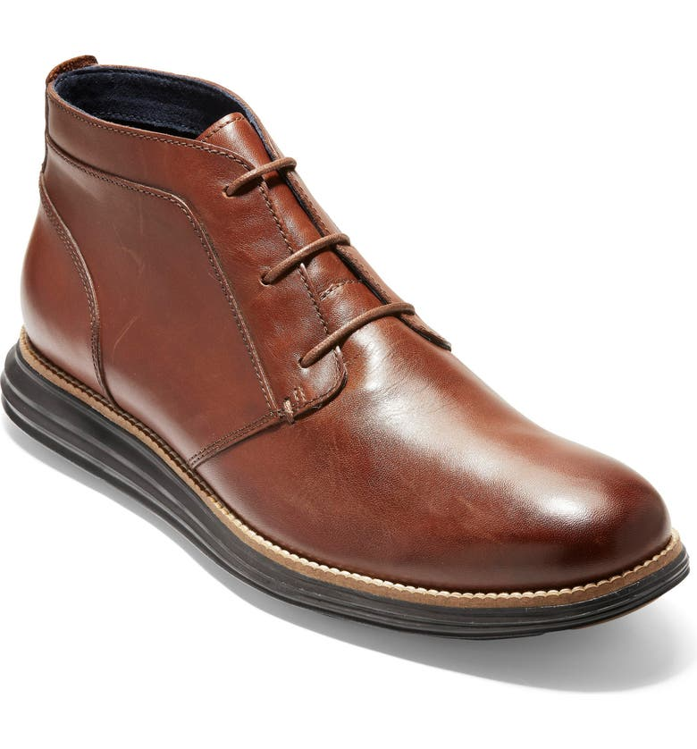 COLE HAAN Original Grand Chukka Boot, Main, color, WOODBURY/ DARK ROAST LEATHER
