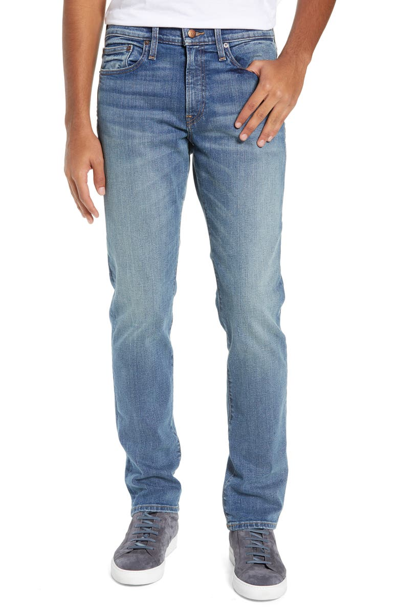 MADEWELL Straight Fit Jeans, Main, color, 400