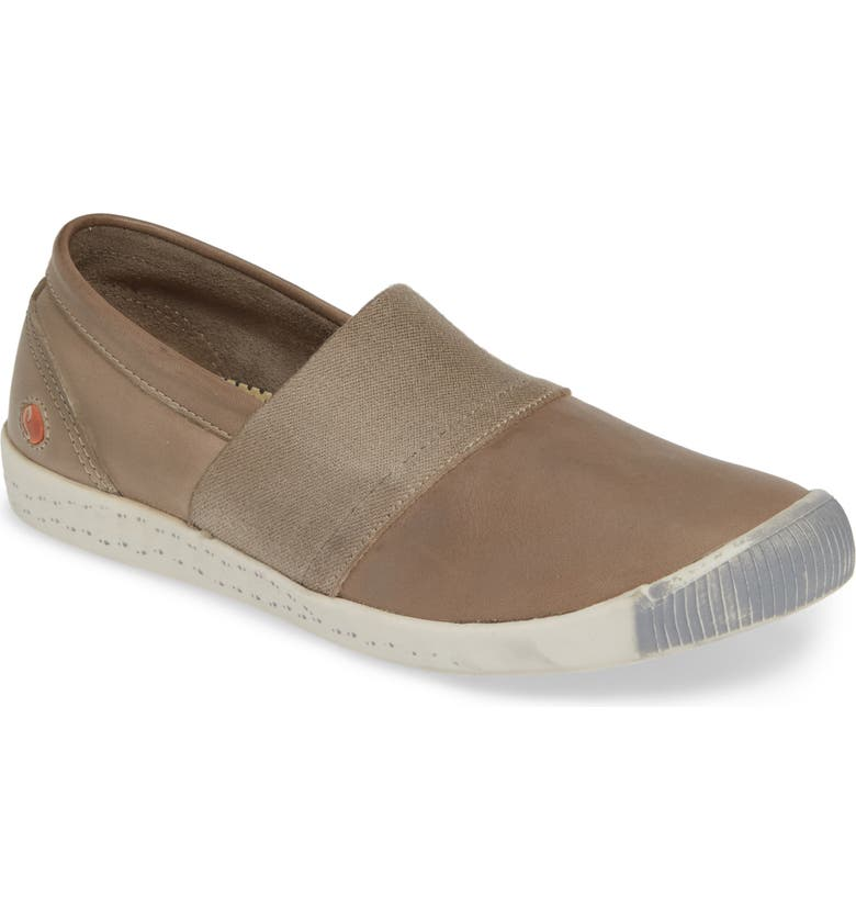 SOFTINOS BY FLY LONDON Ino Slip-On Sneaker, Main, color, TAUPE LEATHER