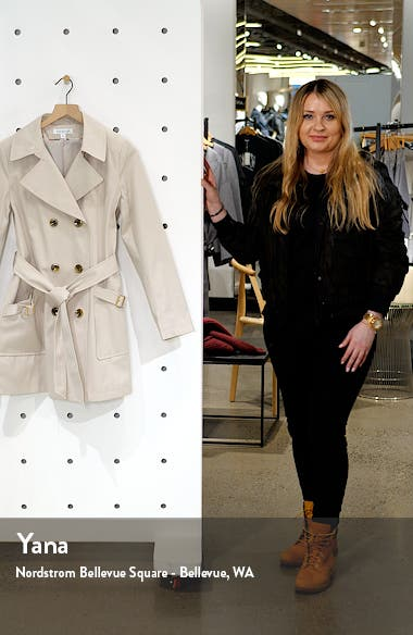 Water Resistant Belted Trench Coat with Removable Hood, sales video thumbnail