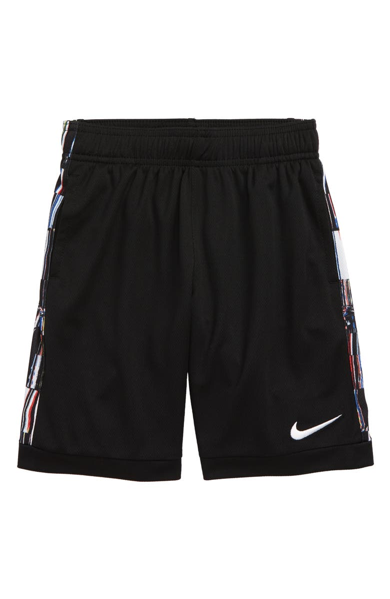 NIKE Kids' Dri-FIT Trophy Athletic Shorts, Main, color, BLACK