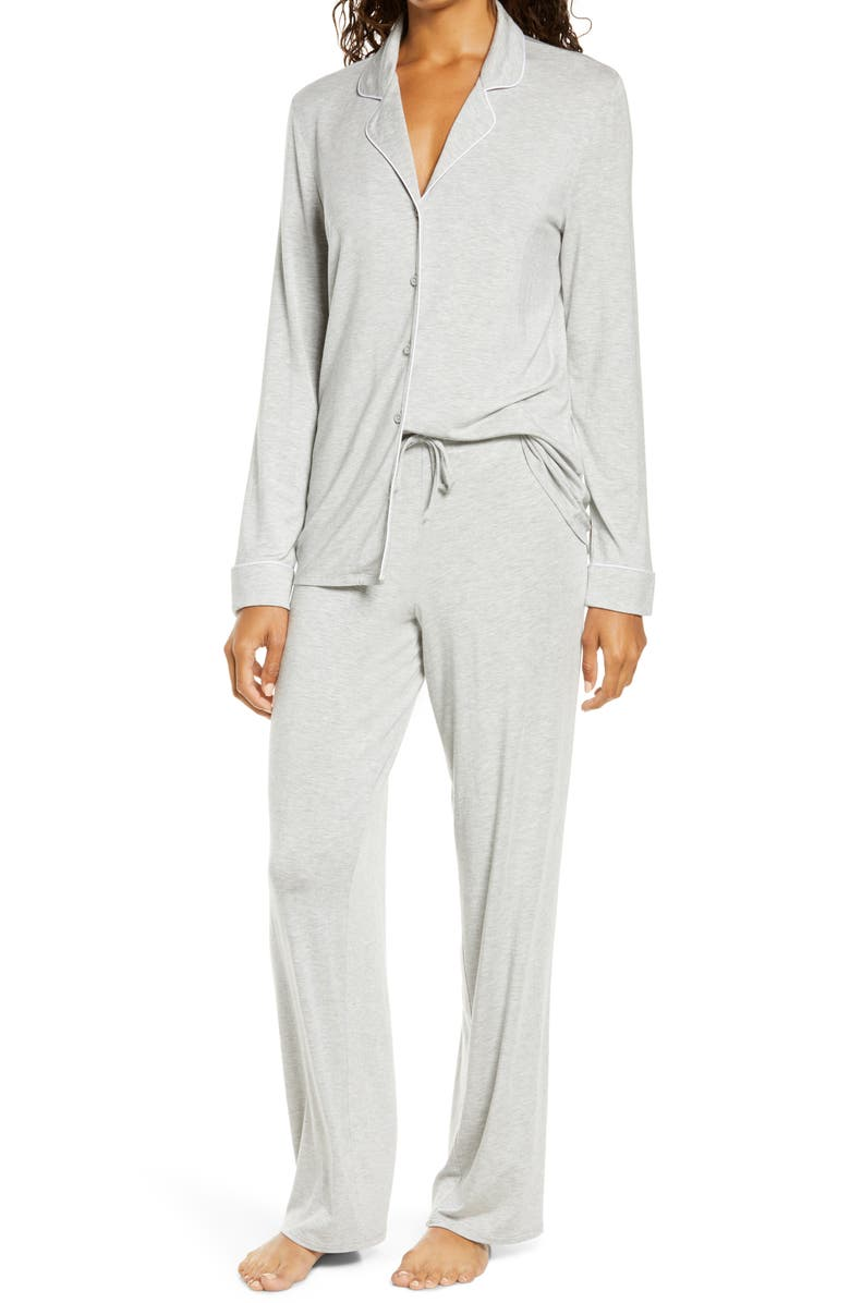 NORDSTROM Moonlight Dream Pajamas, Main, color, GREY HEATHER