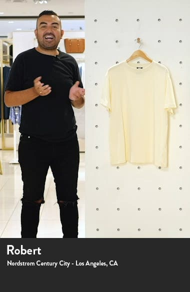 Essential Embroidered Swoosh Cotton T-Shirt, sales video thumbnail