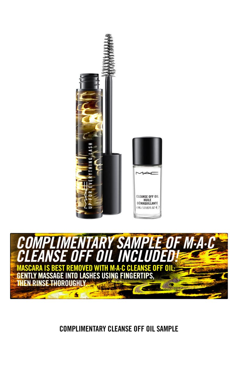 MAC COSMETICS MAC Up For Everything Lash Mascara & Cleanse Off Oil, Main, color, 000