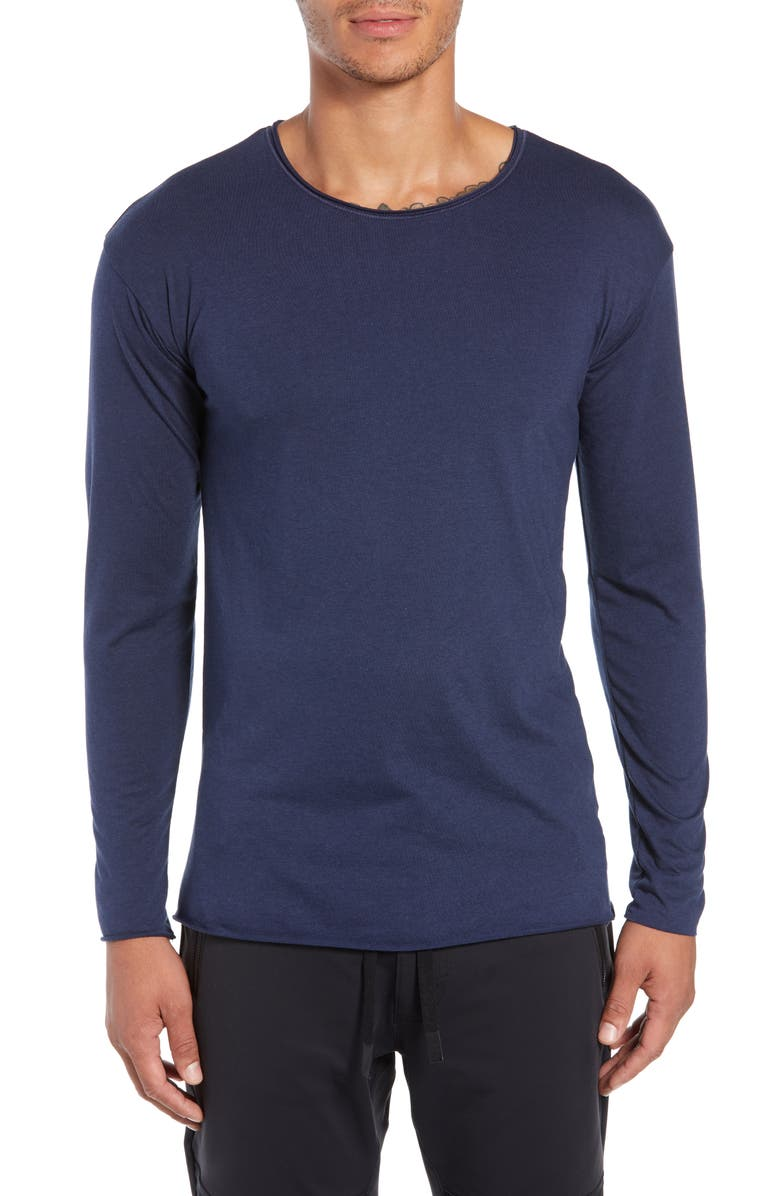ALO The Ultimate Slim Fit Long Sleeve Shirt, Main, color, 410
