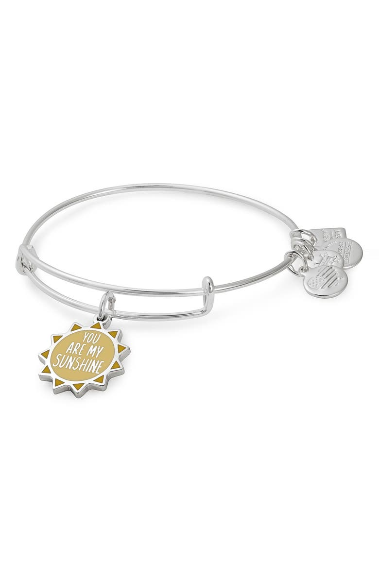 ALEX AND ANI Charity by Design You Are My Sunshine Charm Bracelet, Main, color, 040