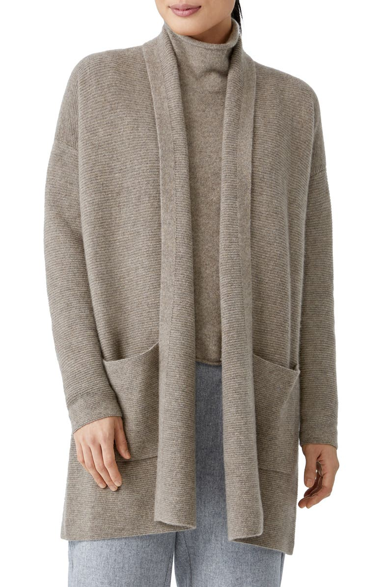 EILEEN FISHER Cashmere Cardigan, Main, color, BARLY