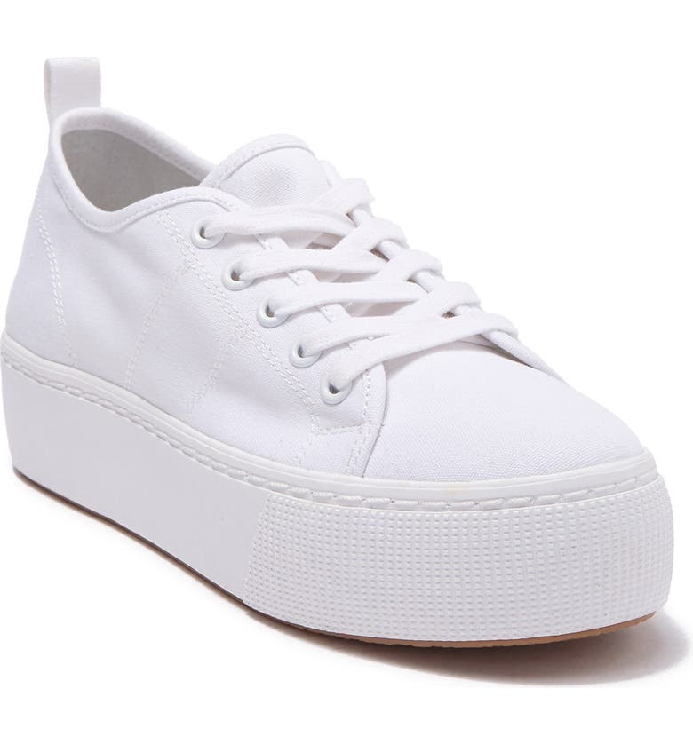 ABOUND Neely Platform Sneaker, Main, color, WHITE FABRIC