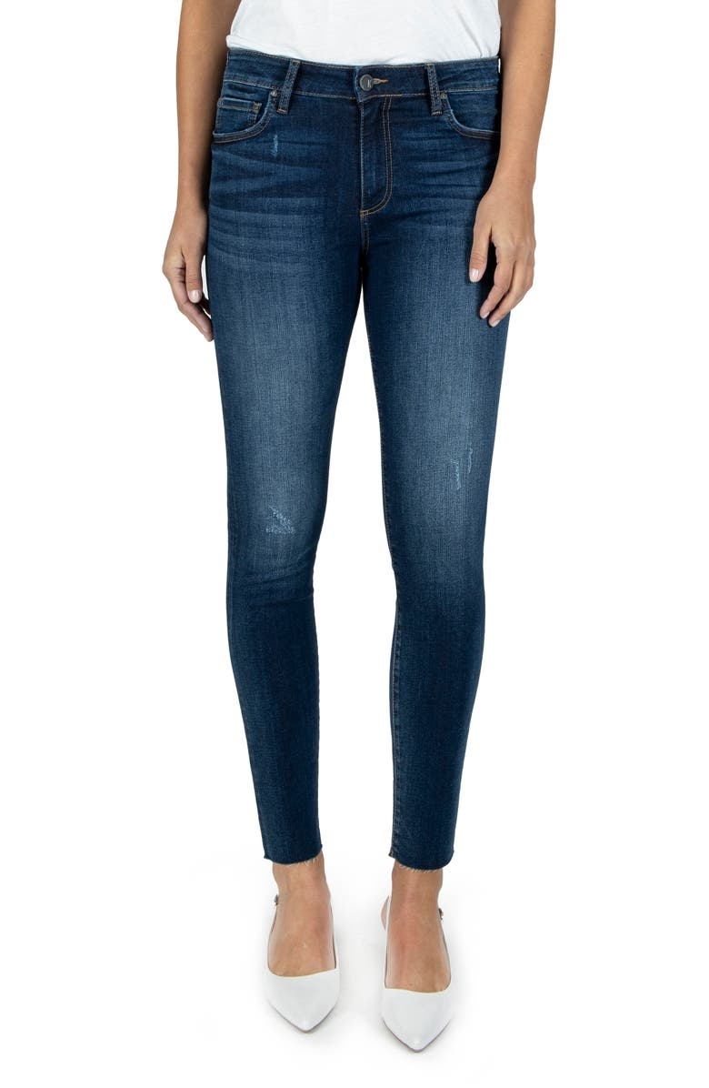 KUT FROM THE KLOTH Connie High Waist Ankle Skinny Jeans, Main, color, POSE
